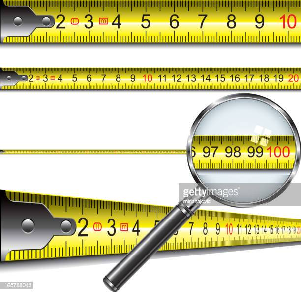 tape measure in centimeters - letrac stock illustrations