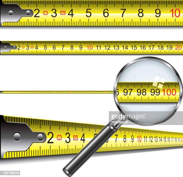 ilustraciones, imágenes clip art, dibujos animados e iconos de stock de cinta de medida en centímetros - largo longitud