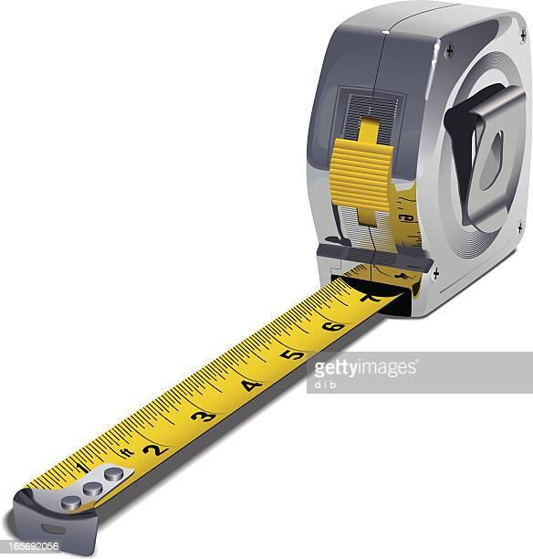 tape measure - tape measure stock illustrations, clip art, cartoons, & icons