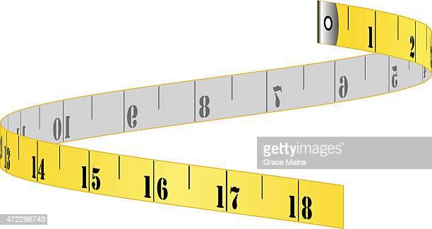 tape measure - vector - tape measure stock illustrations, clip art, cartoons, & icons