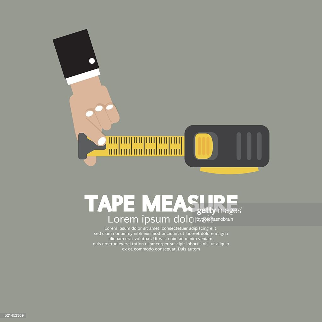 Tape Measure With Man's Hand