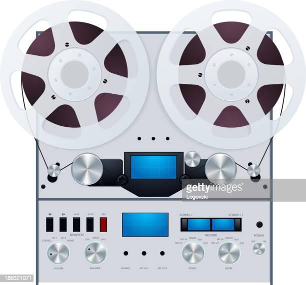 tape recorder - treble clef stock illustrations, clip art, cartoons, & icons