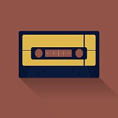 Tape VDO icon great for any use. Vector EPS10.