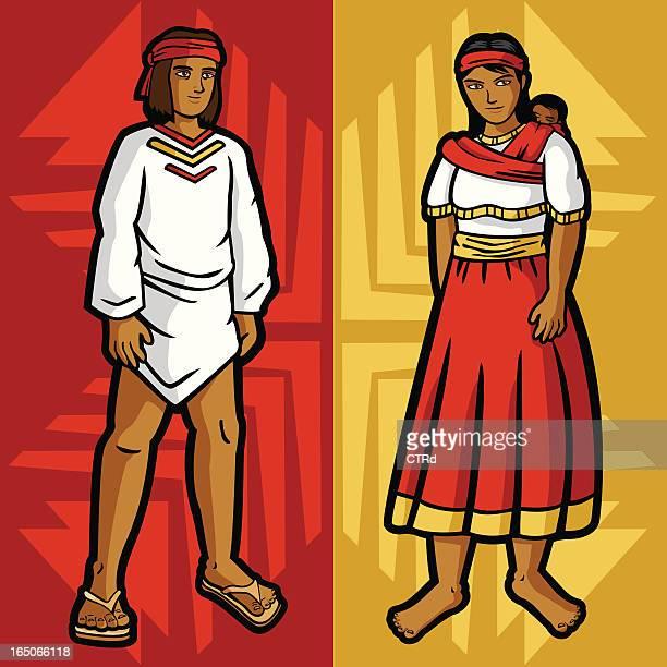 ilustraciones, imágenes clip art, dibujos animados e iconos de stock de tarahumara (mexicana prendas serie - tarahumara