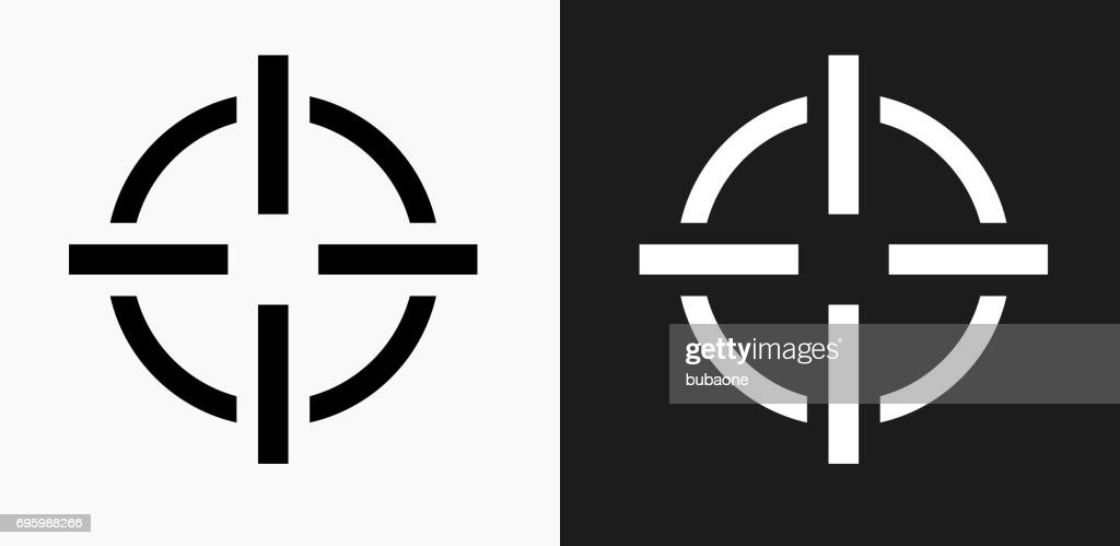 target aim icon on black and white vector backgrounds high res vector graphic getty images target aim icon on black and white vector backgrounds high res vector graphic getty images