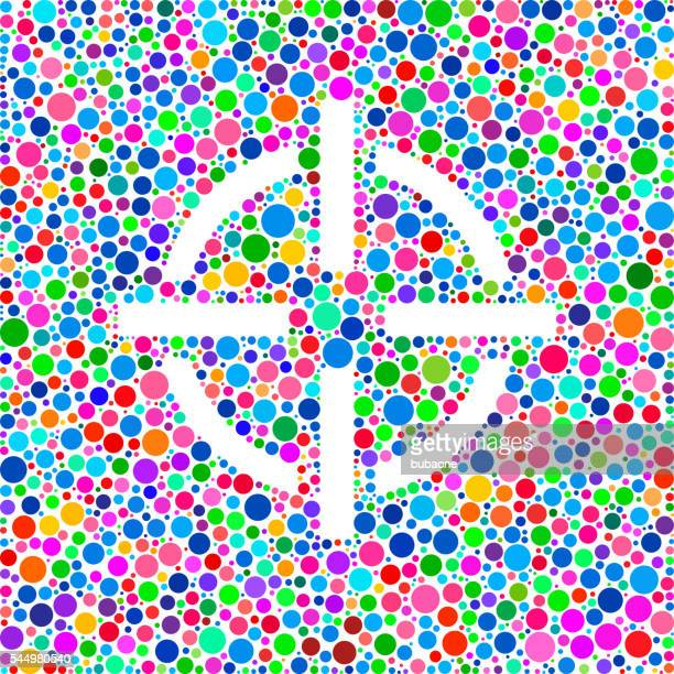 Ziel Ziel Symbol auf Farbkreis-Hintergrundmuster