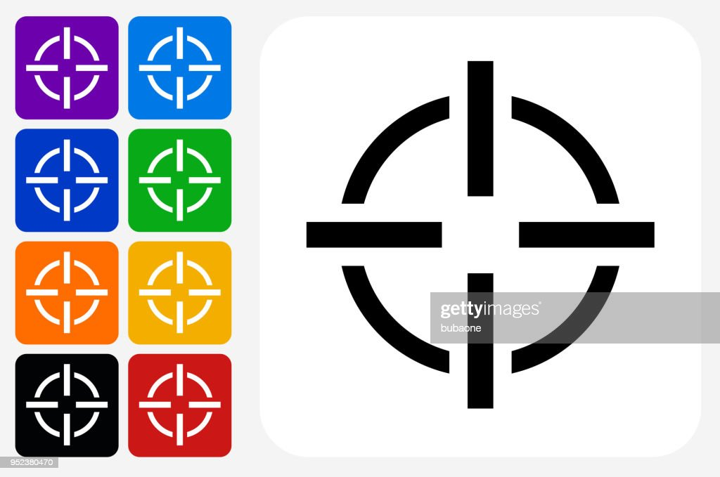 target aim icon square button set high res vector graphic getty images target aim icon square button set high res vector graphic getty images