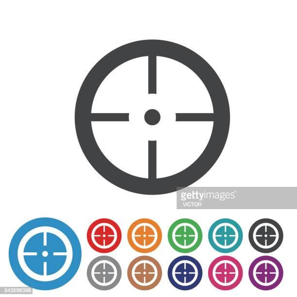 Alvo objectivo ícones-série de ícone de gráfico
