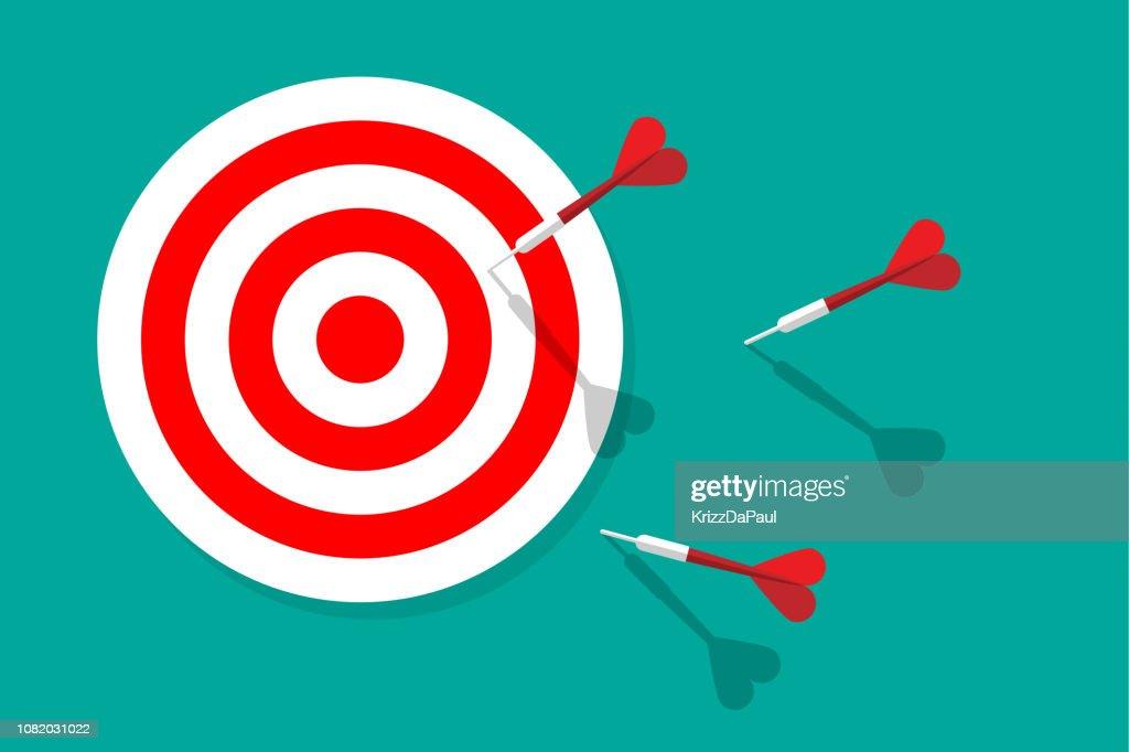 Target and Darts : stock illustration