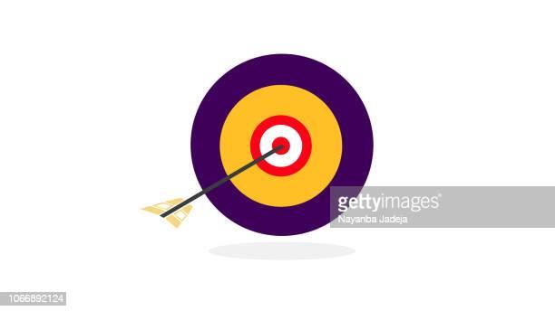 illustrations, cliparts, dessins animés et icônes de icône de la flèche arc cible - concentration