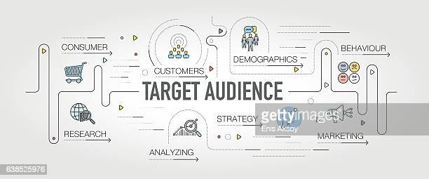 Target Audience banner and icons