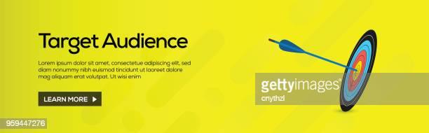 Ziel-Publikum-flache Web-Banner