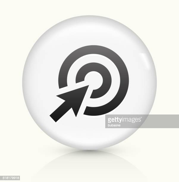 Target Cursor icon on white round vector button