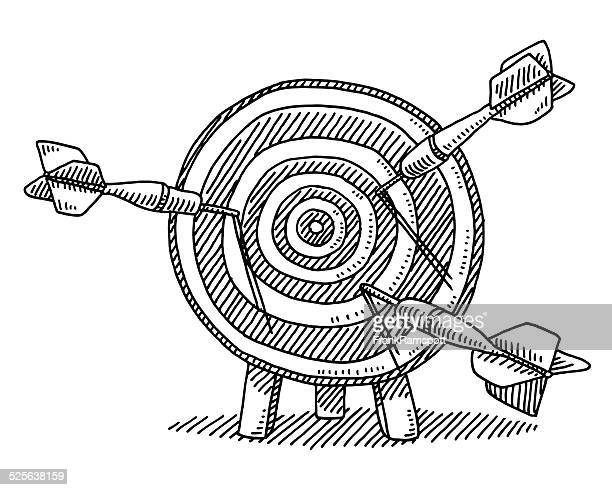 target dart failure concept drawing - dart stock illustrations, clip art, cartoons, & icons