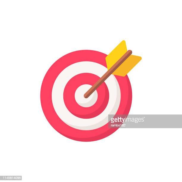 ilustrações de stock, clip art, desenhos animados e ícones de target flat icon. pixel perfect. for mobile and web. - objetivo militar