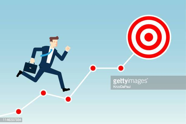 target goal - attitude stock illustrations, clip art, cartoons, & icons