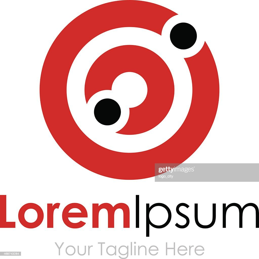 Target holes shooting practice simple business icon logo
