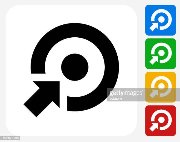 ilustraciones, imágenes clip art, dibujos animados e iconos de stock de objetivo de iconos planos de diseño gráfico - exactitud