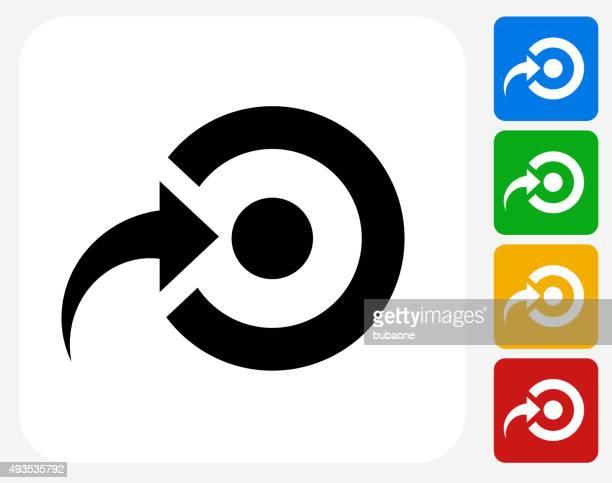 Ziel Symbol flache Grafik Design