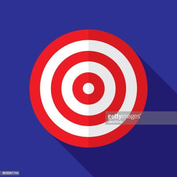 Ziel Symbol flach