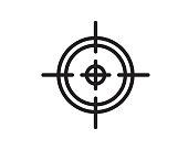 target icon illustration vector,target line icon illustration design