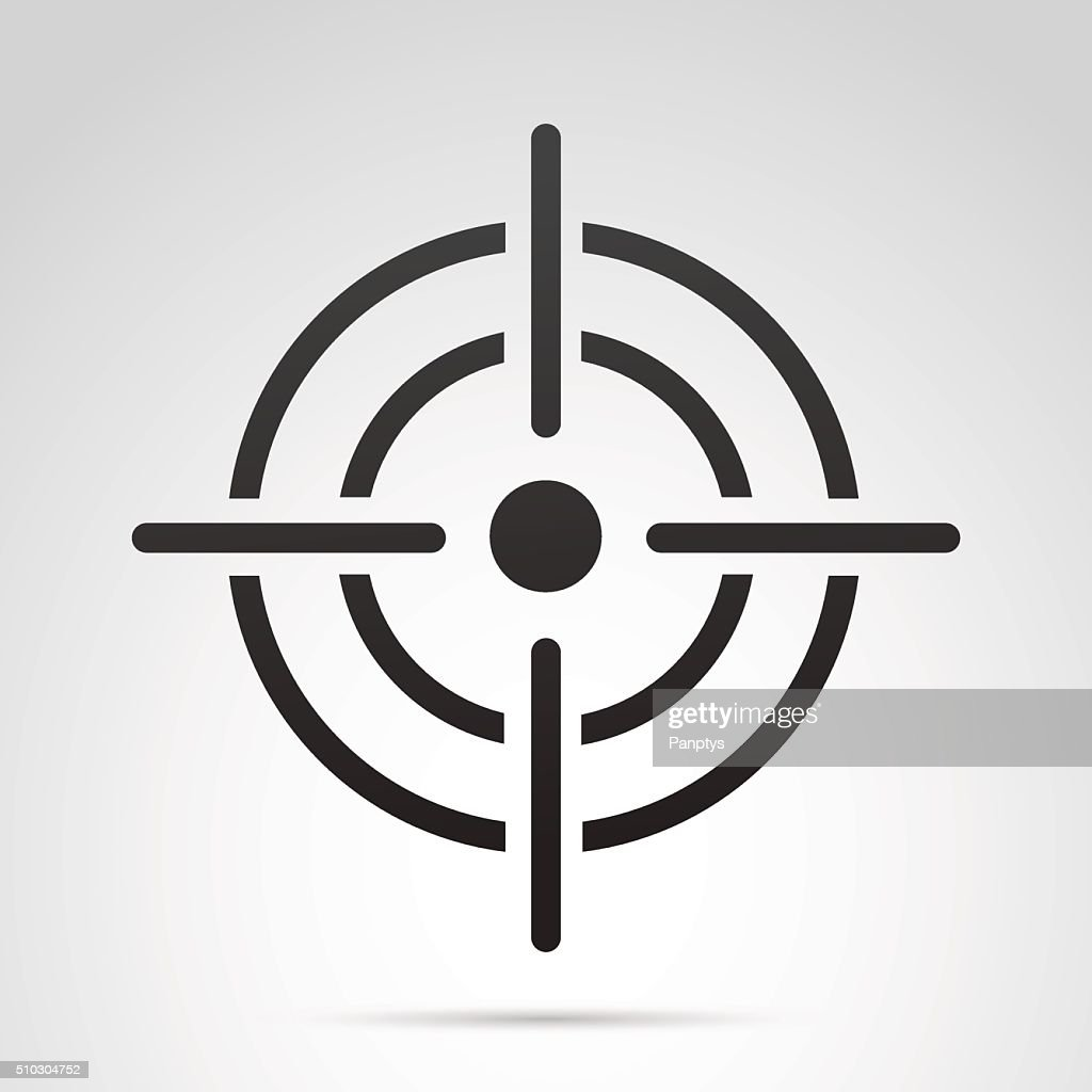 Target icon isolated on white background.