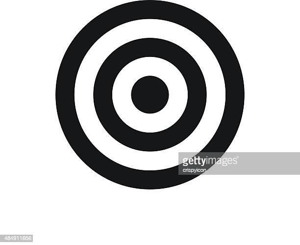 Ziel Symbol auf weißem Hintergrund.