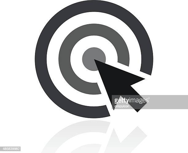 Target icon on a white background.