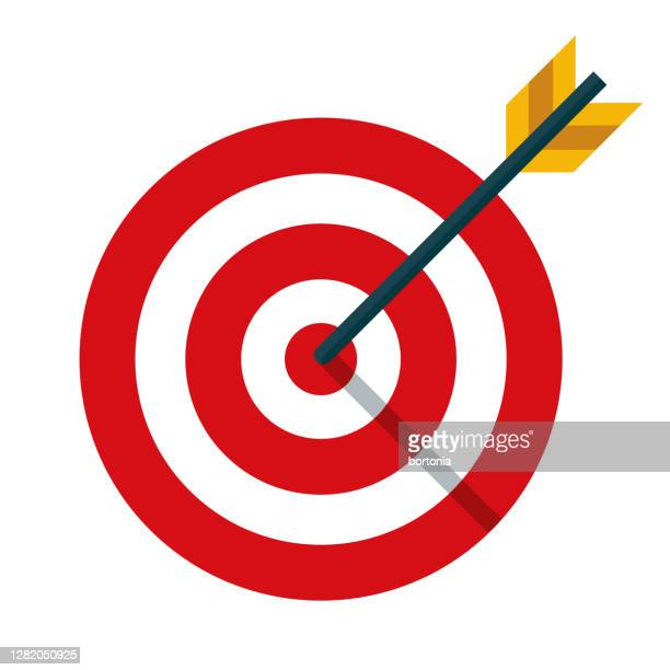 target icon on transparent background - sports target stock illustrations