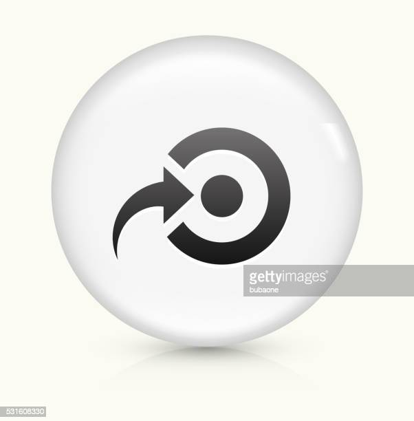 Target icon on white round vector button