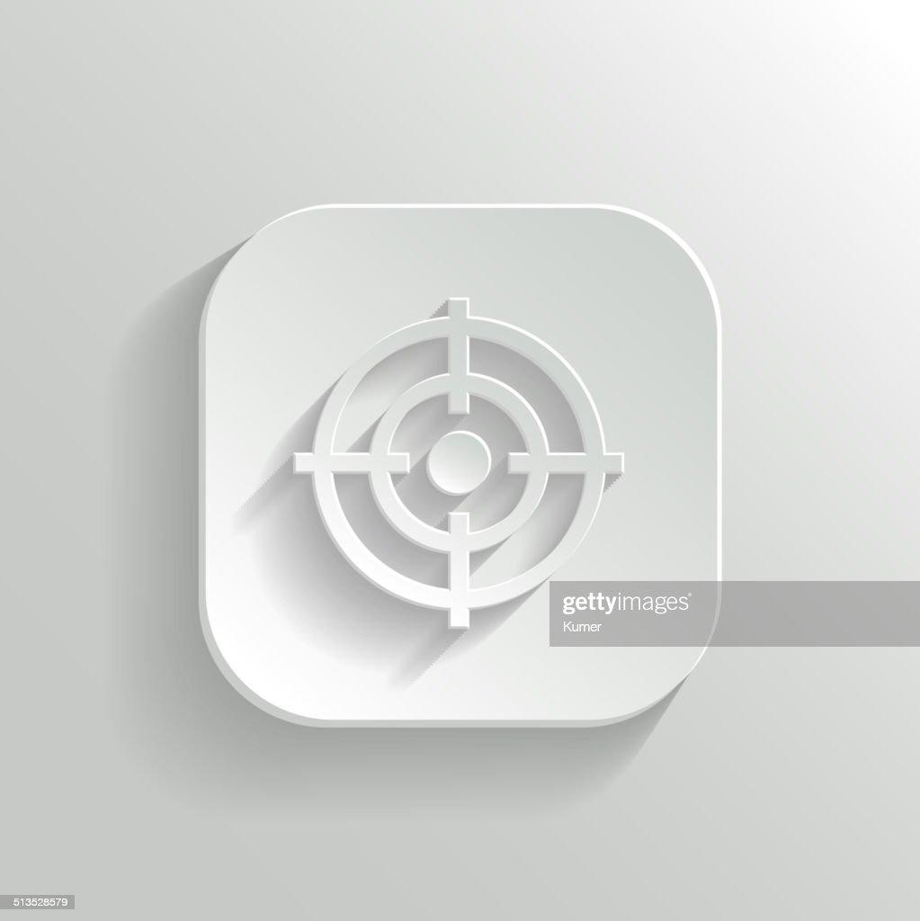 Target icon - vector white app button
