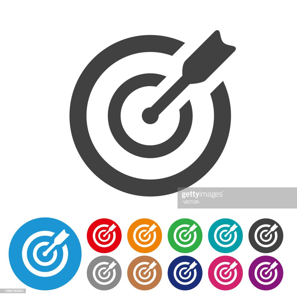 Target Icons Graphic Icon Series High Res Vector Graphic