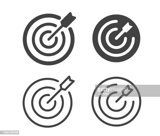 target - illustration icons - target center stock illustrations