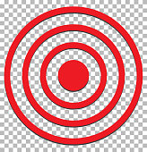 target isolated on transparent. target icon flat design style. target sign.