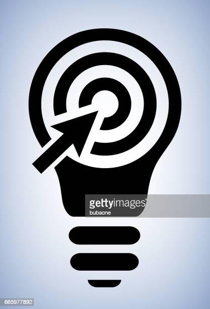 Target Light bulb Conceptual Vector Illustration