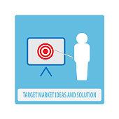 Target market business presentation icon