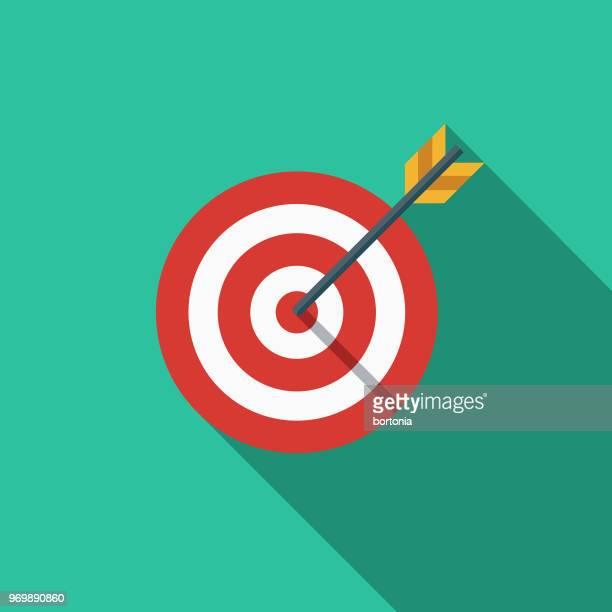 Flaches Design SEO Zielsymbol Markt