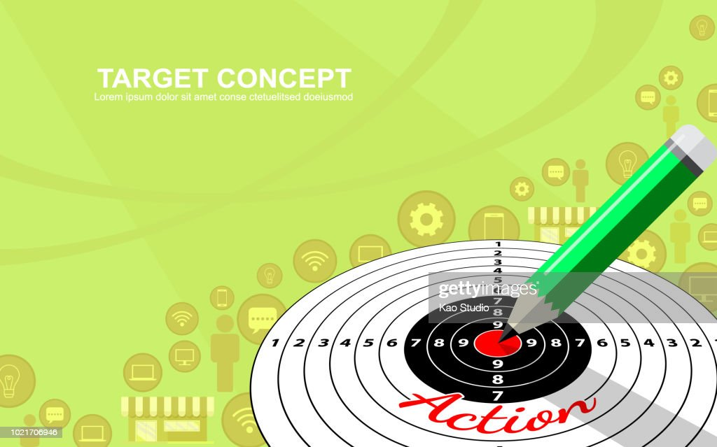Target marketing business strategy template design.