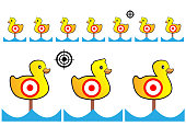 Target painted yellow ducks for shooting range and Entertainment