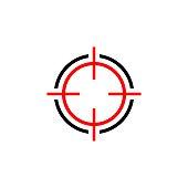 Target Sign Logo Template Illustration Design. Vector EPS 10.