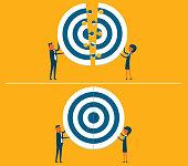 Target together - teamwork