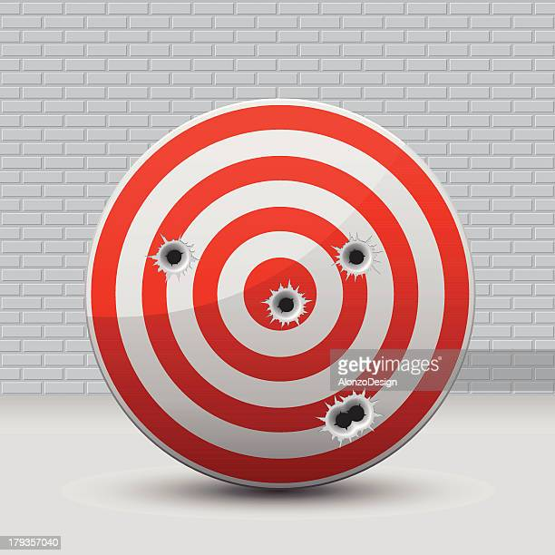 target with bullet holes - sniper stock illustrations, clip art, cartoons, & icons