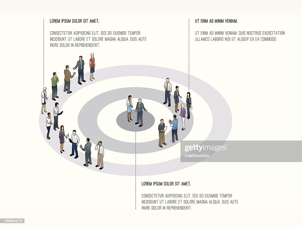 Target with People Slide Template