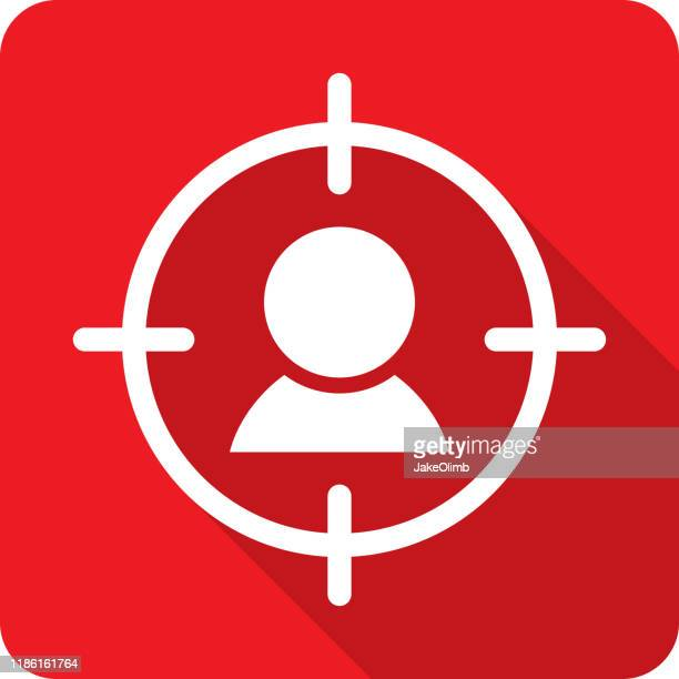 targeted icon silhouette - murder stock illustrations