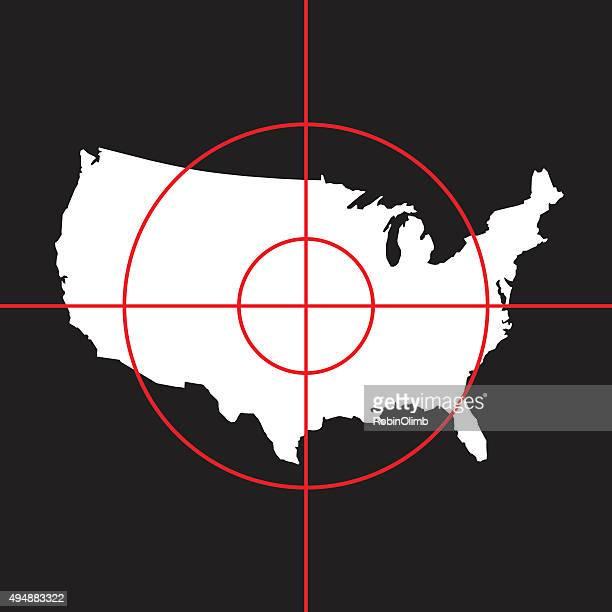 targeted united states - terrorism stock illustrations
