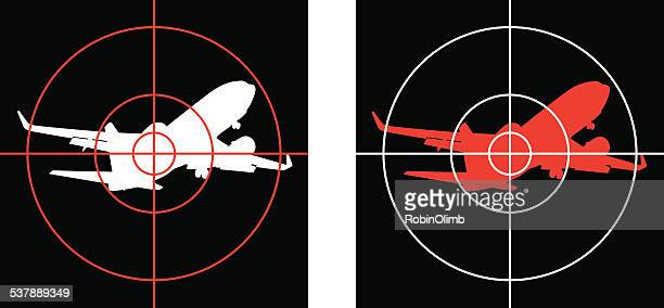 targeting airliners - sniper stock illustrations, clip art, cartoons, & icons