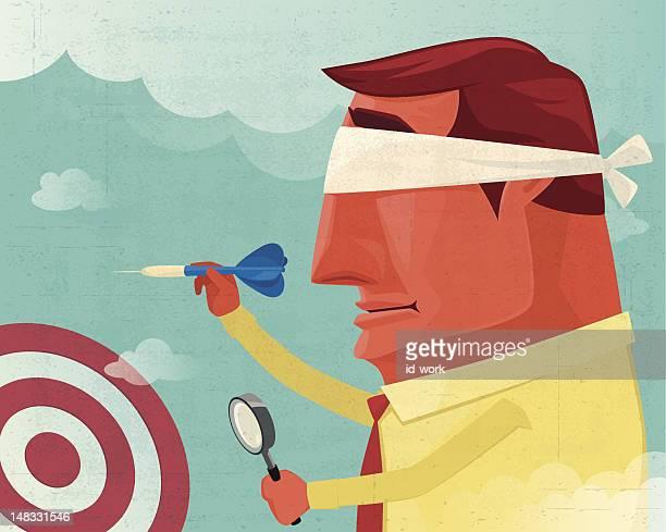 ilustraciones, imágenes clip art, dibujos animados e iconos de stock de dirigido a - ojos tapados