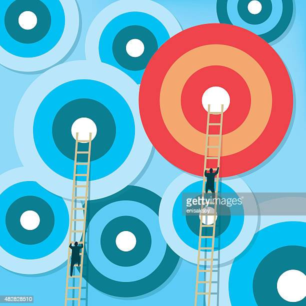 targets with ladders - high up stock illustrations, clip art, cartoons, & icons