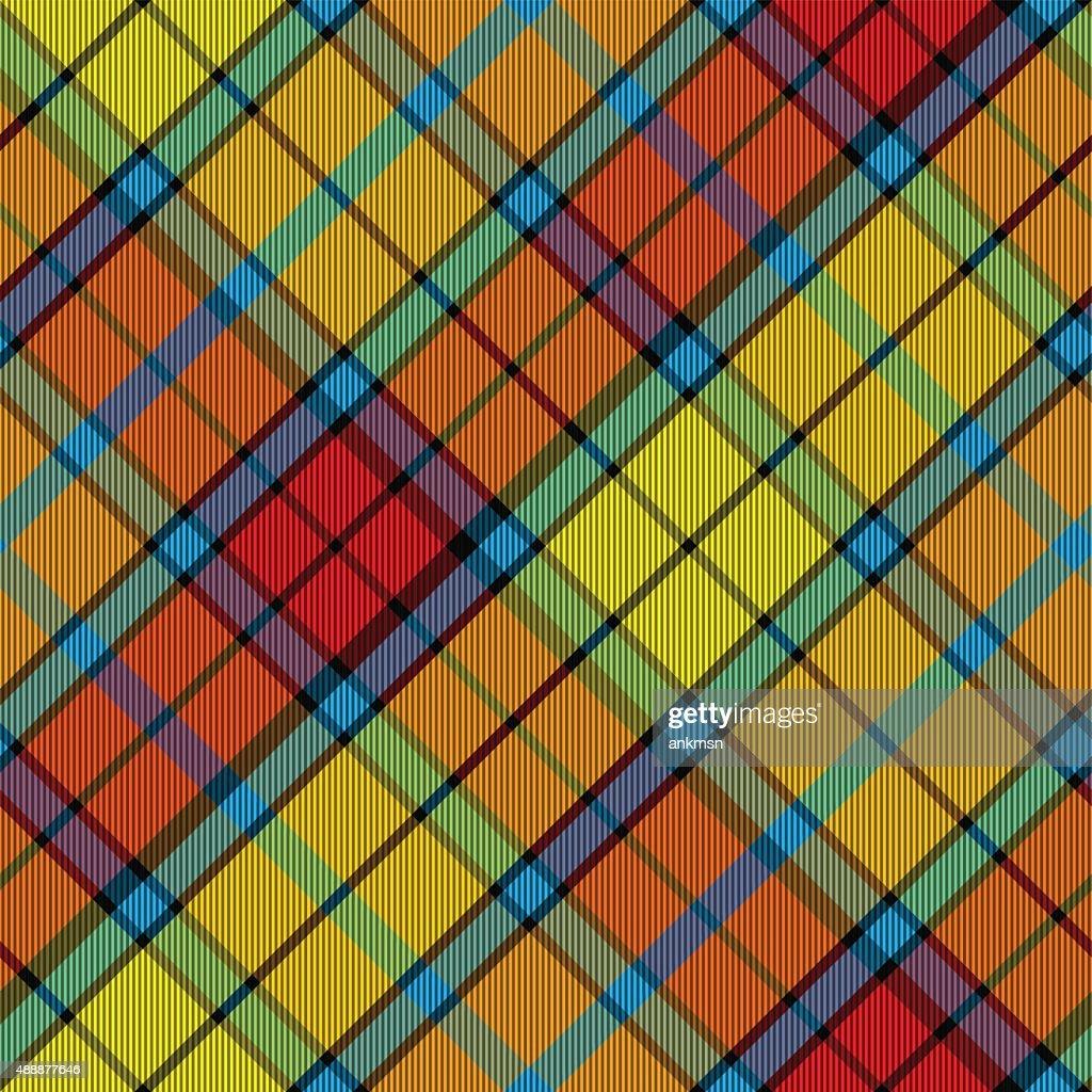 tartan buchanan seamless diagonal pattern