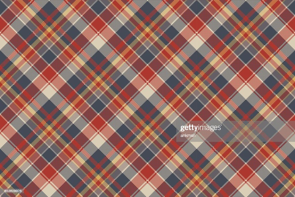 Tartan coarse fabric texture seamless pattern